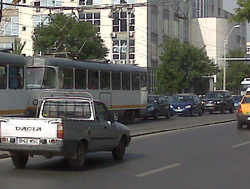 Bucharest, Romania traffic