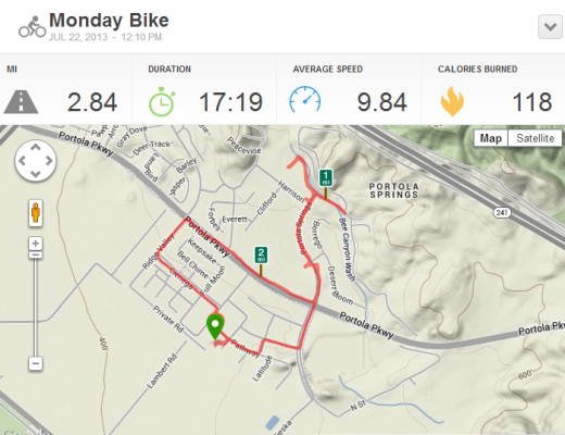 Cycling Activity 2.84 mi   RunKeeper