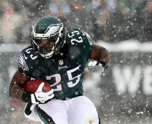 Lesean McCoy in the snow