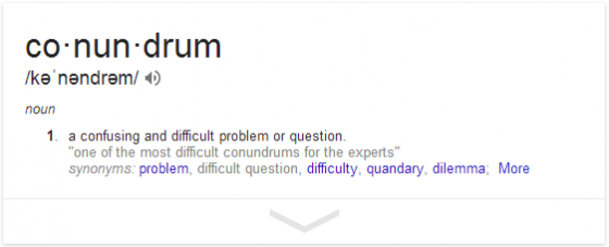 define  conundrum   Google Search