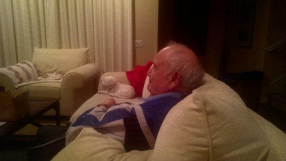 dad and dog
