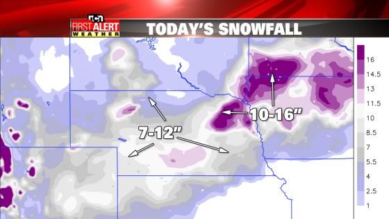 Snowfall Nebraska 2-2-16