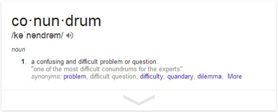 define  conundrum   Google Search