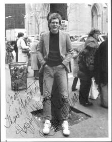 David Letterman autographed photo